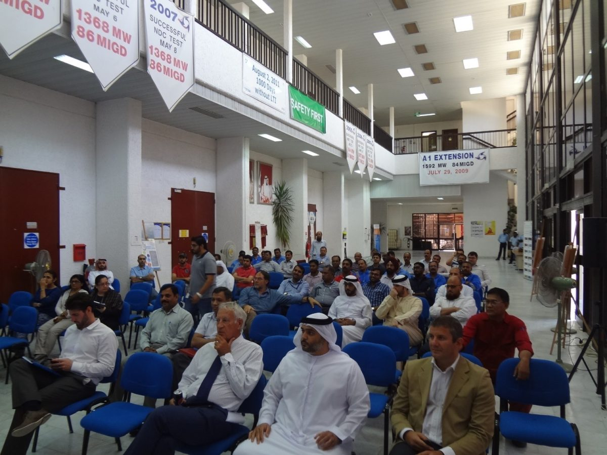 Total Tractebel Emirates Operation & Maintenance Co. 2016 – World Day for Safety & Health at Work Celebration